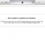 Windows/Mac iTunes解決「We're unable to complete your activation」